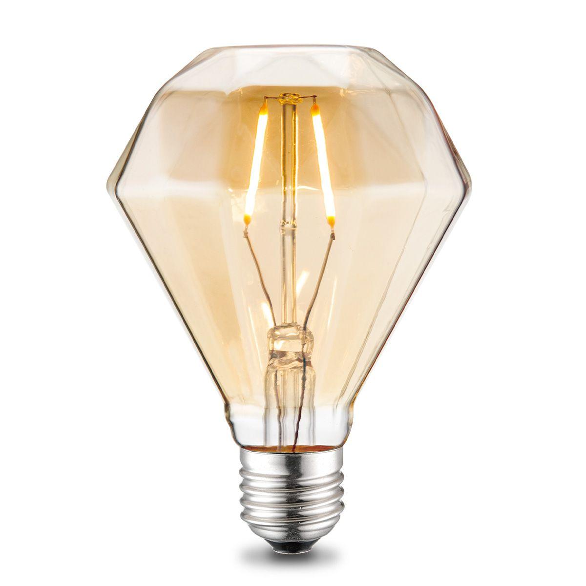 Light depot LED lamp Diamond E27 2W amber Outlet