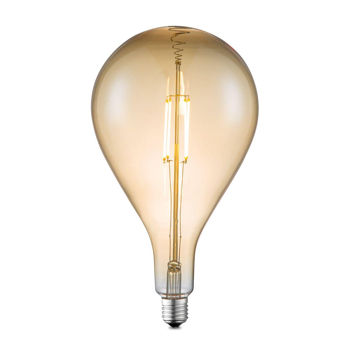 Light depot LED lamp Pear E27 4W dimbaar amber Outlet