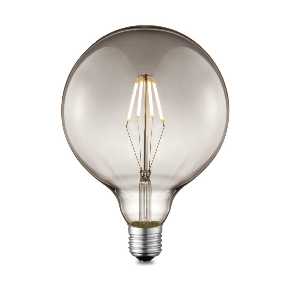 Light depot LED lamp Globe G125 E27 4W dimbaar smoke Outlet